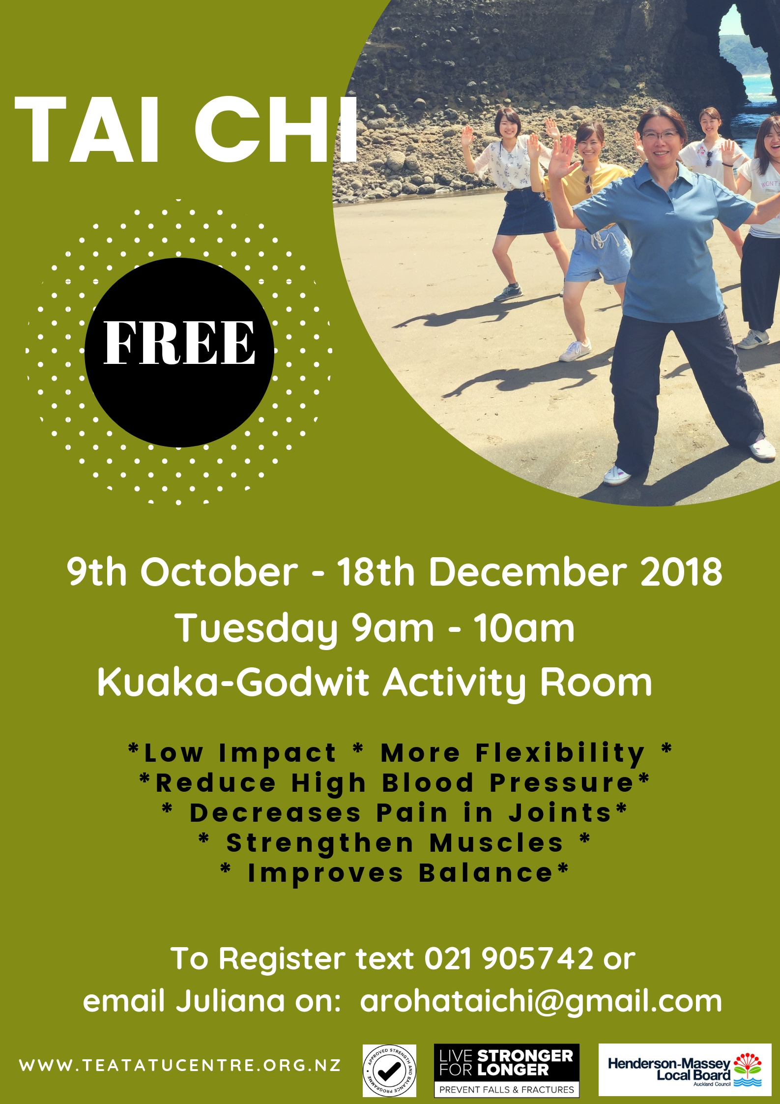 Free Tai Chi 50+ - Auckland Events, CA | Commingly